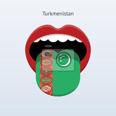 Abstrakt menschliche Zunge.