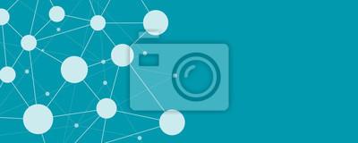 Bild Abstrakt social network connection banner hintergrund konzept