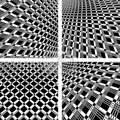 Abstrakt strukturierten Hintergründen in Op-Art Design.