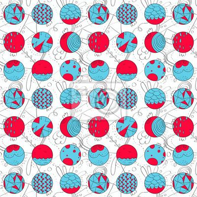 Abstrakt Vektor-Muster von Hand gezeichnet