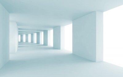 Bild Abstrakte Architektur 3d Hintergrund, leeren blauen Flur