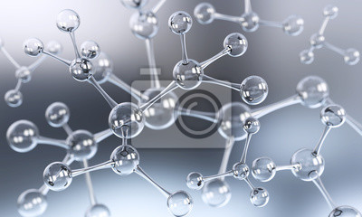 Bild Abstrakte Atom- oder Molekülstruktur