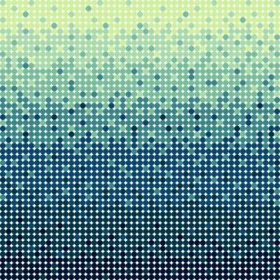 Abstrakte blaue Kreise Hintergrund in Pixel-Art-Stil