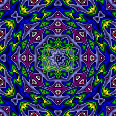 Abstrakte Bunt Oktagonal Mandala Stil Abbildung Leinwandbilder