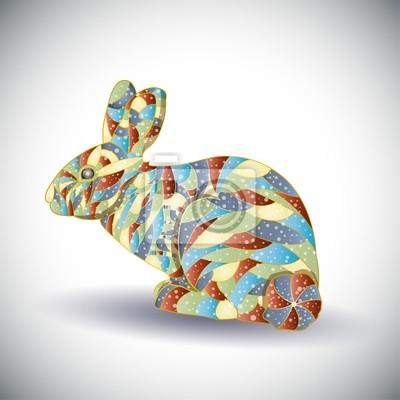 Abstrakte bunte rabbit.Illustration 10 Version