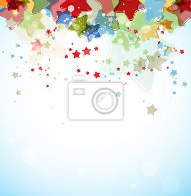 Bild abstrakte Farb-Sterne vector Hintergrund