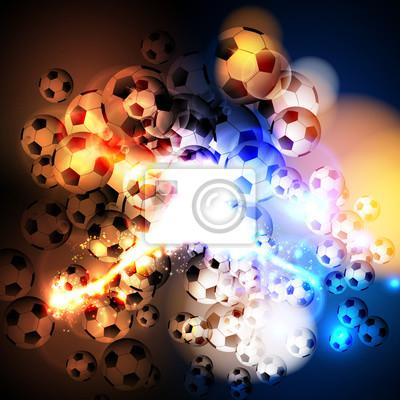 Abstrakte Fußball Lichtabdeckung einfach alle editierbar