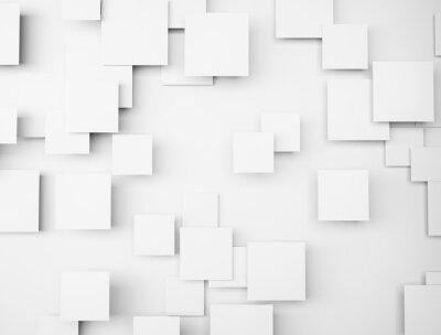 Bild Abstrakte geometrische Form 3d weiße Würfel