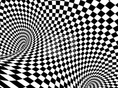 Abstrakte Illusion. Schwarz und weiß
