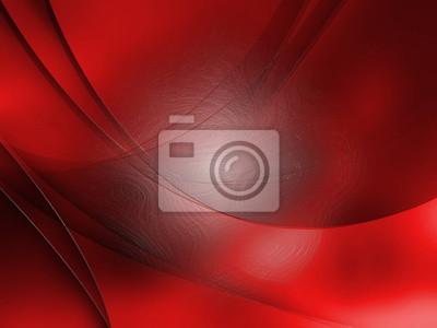Abstrakte Komposition mit roten Linien und Kurven