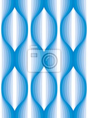 Abstrakte Linien geometrisches nahtloses Muster, endloser Gewebehintergrund der vektorwiederholung. Wellenförmige Kurve formt modisches Wiederholungsmotiv. Verwendbar für Stoff, Tapete, Verpackung, We