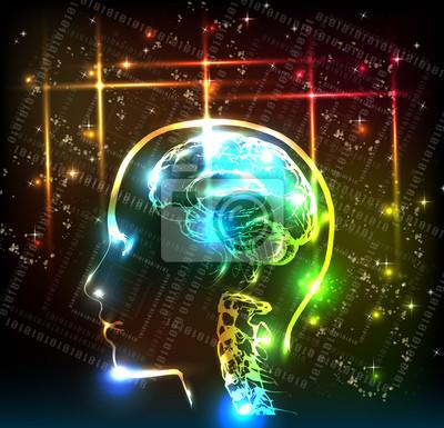 abstrakte menschliche Gehirn Hintergrund-Design