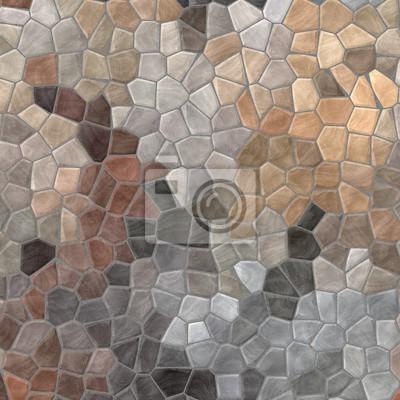 Bild Abstrakte Natur Marmor Kunststoff Steinchen Mosaik Fliesen Textur  Hintergrund Mit Grauen Fugen   Beige Farben