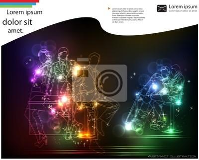 abstrakte Neon-Business-Template