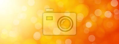 Bild Abstrakte orange Bokeh Hintergrund