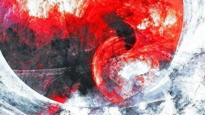 Bild Abstrakte rote und graue Grunge-Bewegungszusammensetzung.  Moderner heller futuristischer dynamischer Hintergrund.  Fraktale Kunst für kreatives Grafikdesign