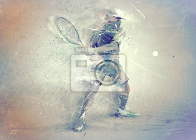 Abstrakte Tennisspieler