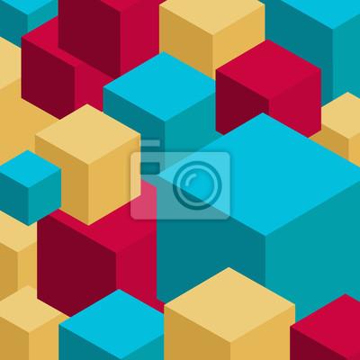 Abstrakte Vektor-Hintergrund mit 3D-Würfel