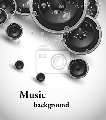 abstrakte Vektor-Lautsprecher Musik