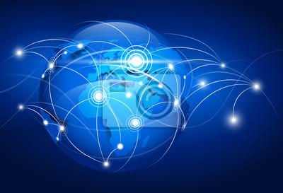 Bild Abstrakte Weltkarte. Vektor-Illustration