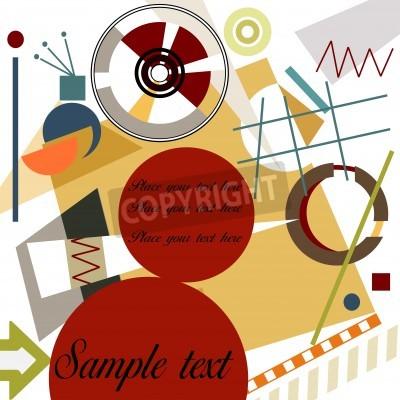 Bild Abstrakten geometrischen Hintergrund; Meister Kandinsky-Stil