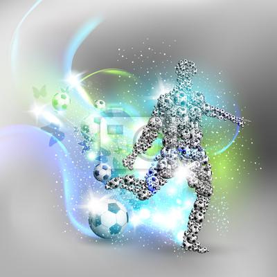 Abstrakter Fußballkarte von Spielern