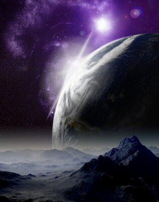 Bild Abstrakter Hintergrund des Weltraums. In der fernen Zukunft Reisen. New