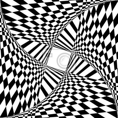 Abstrakter Hintergrund mit optischen Täuschung Wirkung.