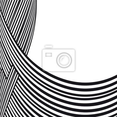 b680ad6b6b439 Bild Abstrakter Hintergrund. Schwarz-Weiß-Kurvenlinien mit Rahmen für  Nachricht.