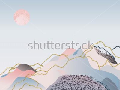Bild Abstrakter minimaler Hintergrund. Skandinavischer Entwurf. Vektorillustration
