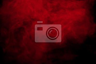 Bild Abstrakter roter Rauch auf schwarzem Hintergrund. Rote Farbe Wolken.