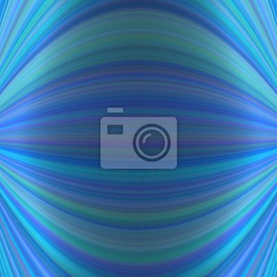 Abstrakter symmetrischer Bewegungshintergrund von dünnen gekrümmten Linien in blauen Tönen
