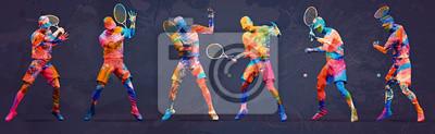 Abstrakter Tennisspieler