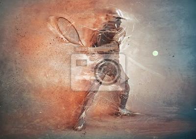 Bild Abstrakter Tennisspieler