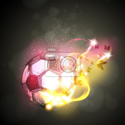 Abstraktes Fußballlichtplakat einfaches editable