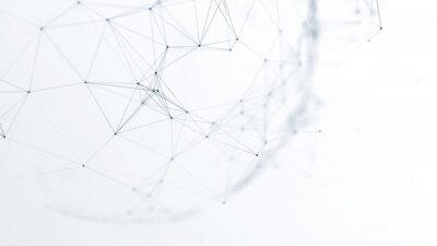 Bild abstraktes futuristisches Netzwerk auf Hintergrundillustration
