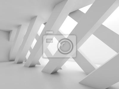 Abstraktes Leeres Zimmer Mit Trennwand 3 D Leinwandbilder Bilder