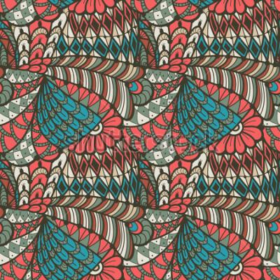 Bild Abstraktes nahtloses Muster in der Gekritzelart. Vektor-Illustration