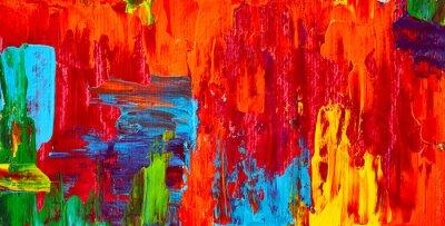 Bild Abstraktes Ölgemälde. Kunst Pinselstriche Aquarell. Moderne und zeitgenössische Kunstwerke. Bunte Hintergrund