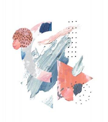 Bild Acrylic, oil paint rough smears, blots, texture, watercolor art