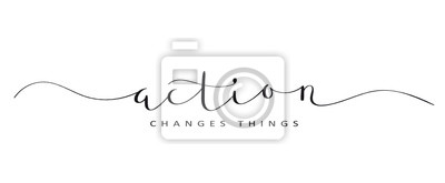 Bild ACTION CHANGES THINGS brush calligraphy banner