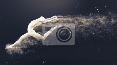 Action-Tanz-Ballett-Pose. 3D-Rendering-Abbildung