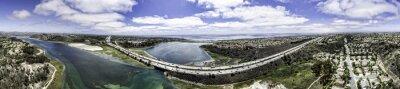 Bild Aerial Panoramic of Batisquitos Lagoon in Carlsbad, California, USA.