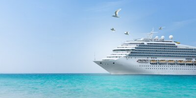 Bild Aerial view of beautiful white cruise ship above luxury cruise concept tourism travel on summer holiday vacation time.
