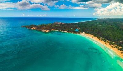 Aerial view of tropical beach. Macao beach