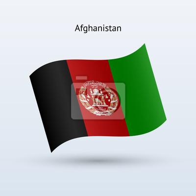 Afghanistan Fahnenschwingen Form. Vektor-Illustration.