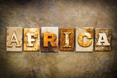 Bild Africa Concept Letterpress Leather Theme