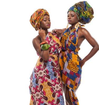 Bild African female models posing in dresses.