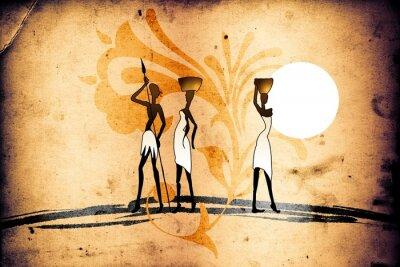 Bild afrikanische ethnische Retro-Vintage-Motiv