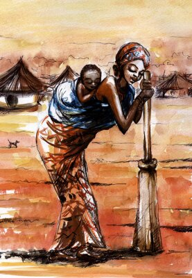 Afrikanische Frau .